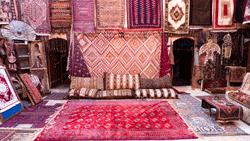 Teppiche auf Markt
